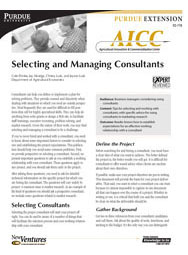 Selecting and Managing Consultants
