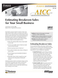 Estimating Breakeven Sales for Your Small Business