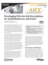 Developing Effective Job Descriptions for Small Businesses and Farms
