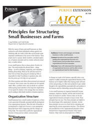 Principles for Structuring Small Businesses and Farms