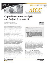 Capital Investment Analysis and Project Assessment