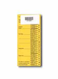 Livestock Placing Card 4H/FFA Judging (yellow) Pkg/100