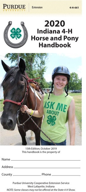 2020 Indiana 4-H Horse And Pony Handbook (10/pk)