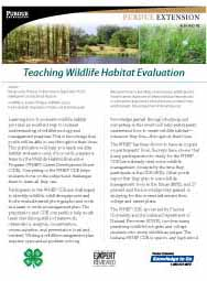 Teaching Wildlife Habitat Evaluation