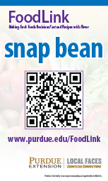 Purdue Extension FoodLink sample POS QR code sign