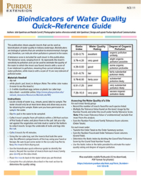 Bioindicators of Water Quality: Quick Reference Guide