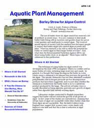 Barley Straw for Algae Control