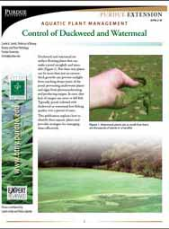Aquatic Plant Management: Control of Duckweed and Watermeal