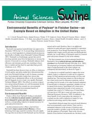 Environmental Benefits of Paylean in Finisher Swine, An Example Based on Adoption in the U.S.
