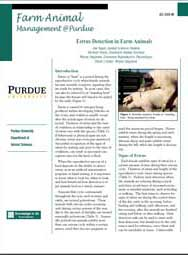 Estrus Detection in Farm Animals