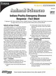 Indiana Poultry Emergency Disease Response - Fact Sheet