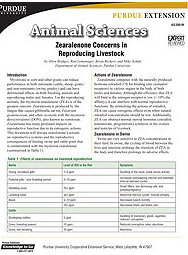 Zearalenone Concerns in Reproducing Livestock