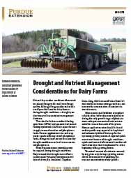 Drought and Nutrient Management Considerations for Dairy Farms