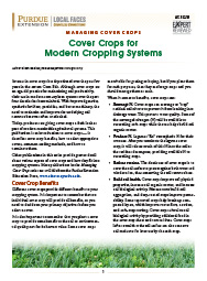 Managing Cover Crops: Cover Crops for Modern Cropping Systems