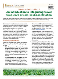 Managing Cover Crops: An Introduction to Integrating Cover Crops Into a Corn-Soybean Rotation