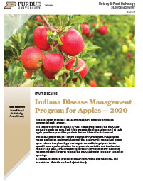 Fruit Diseases: Indiana Disease Management Program for Apples - 2018