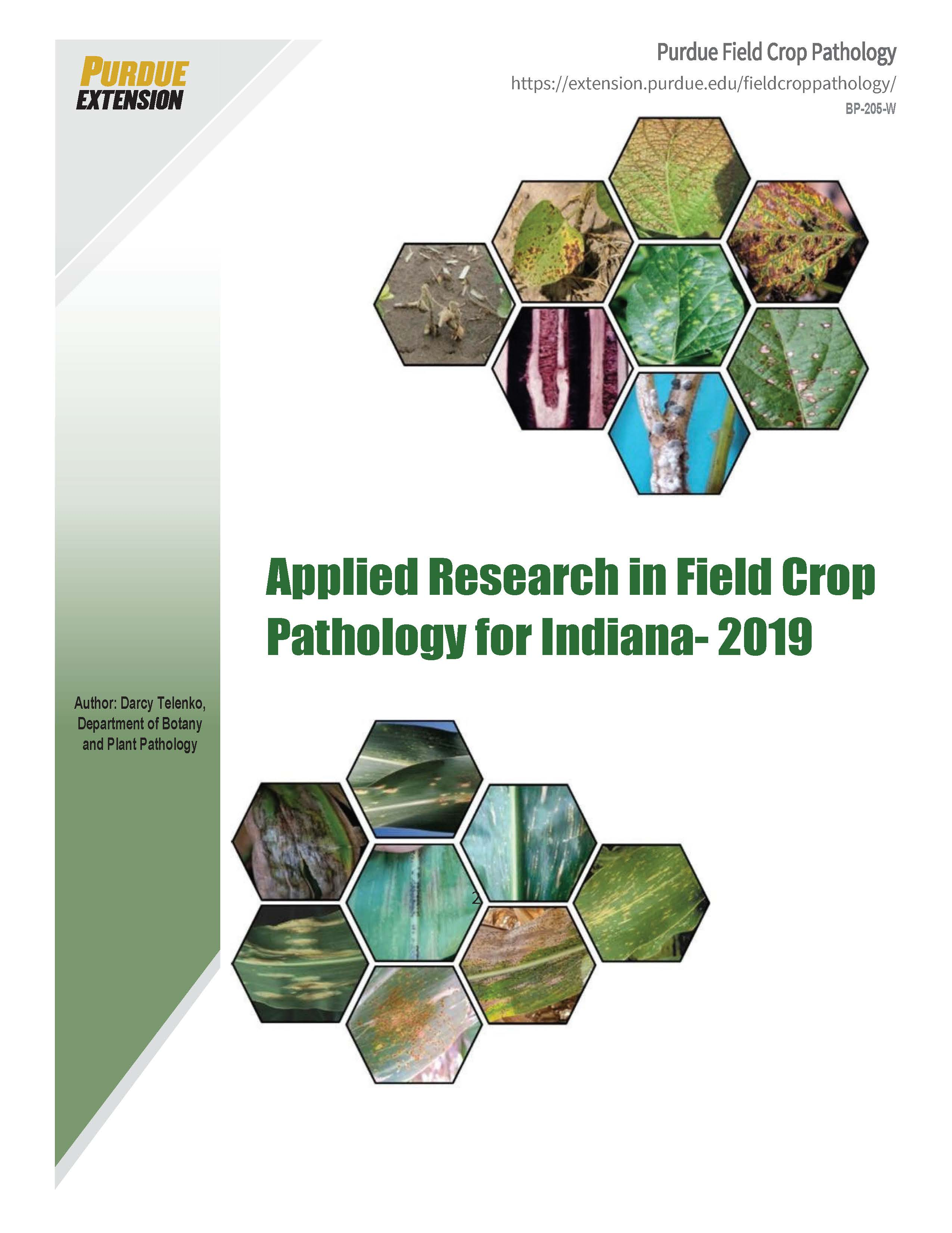 Applied Research in Field Crop Pathology for Indiana - 2019 (PDF)