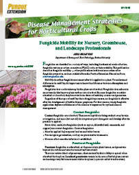 Disease Management Strategies for Horticultural Crops: Fungicide Mobility for Nursery, Greenhouse, and Landscape Professionals