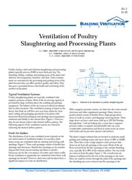 Ventilation of Poultry Slaughtering and Processing Plants