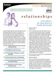 A Fine Balance: The Magic Ratio to a Healthy Relationship (Relationships series)