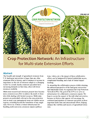 Crop Protection Network: An Infrastructure for Multi-state Extension Efforts
