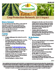 Crop Protection Network: 2015 Impact
