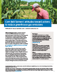 Corn Belt Farmers' Attitudes Toward Actions to Reduce Greenhouse Gas Emissions