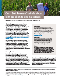 Corn Belt Farmers' Beliefs about Climate Change and Its Causes