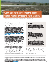 Corn Belt Farmers' Concerns About Water-related Threats to Farm Viability
