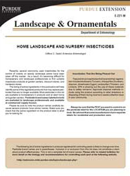 Home, Landscape, and Nursery Insecticides