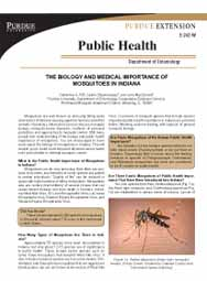 The Biology of Indiana Mosquitoes