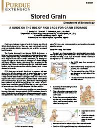 Stored Grain: A Guide on the Use of PICs Bags for Grain Storage