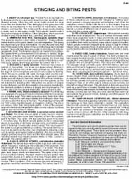 Stinging and Biting Pests