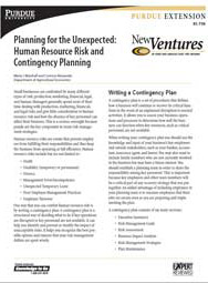 Planning for the Unexpected: Human Resource Risk and Contingency Planning