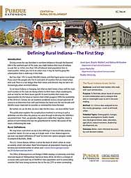 Defining Rural Indiana - The First Step