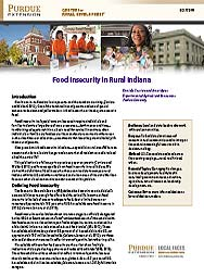 Food Insecurity in Rural Indiana