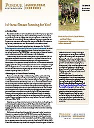Is Horse-drawn Farming for You?