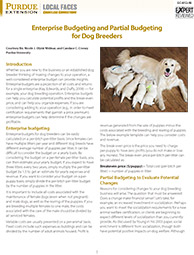 Enterprise Budgeting and Partial Budgeting for Dog Breeders