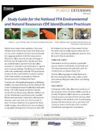 Study Guide for the National FFA Environmental and Natural Resources CDE Identification Practicum
