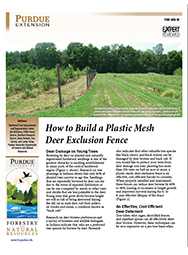 How to Build a Plastic Mesh Deer Exclusion Fence