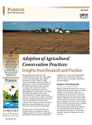 Adoption of Agricultural Conservation Practices: Insights from Research and Practice