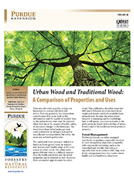 Urban Wood and Traditional Wood: A Comparison of Properties and Uses