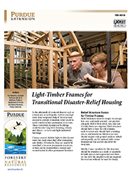 Light-Timber Frames for Transitional Disaster-Relief Housing