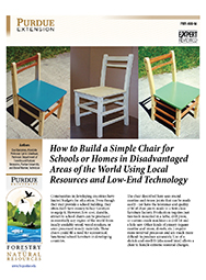 How to Build a Simple Chair for Schools or Homes in Disadvantaged Areas of the World Using Local Resources and Low-End Technology
