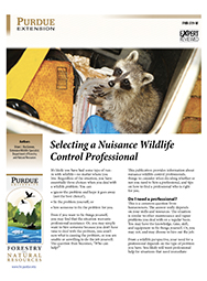 Selecting a Nuisance Wildlife Control Professional