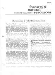 The Economics of Timber Stand Improvement