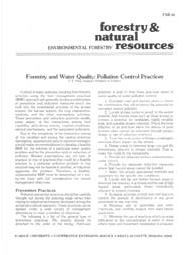 Forestry and Water Quality:  Pollution Control Practices