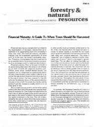 Financial Maturity: A Guide to When Trees Should Be Harvested