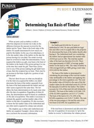 Determining Tax Basis of Timber