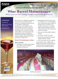 Commercial Winemaking Production Series: Wine Barrel Maintenance